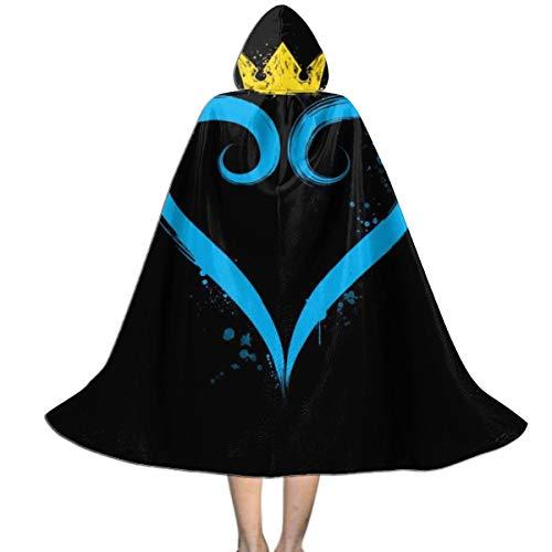 NUJSHF Kingdom Hearts Crown Heart - Capa con Capucha para Halloween, Navidad, Fiestas, Disfraces, Cosplay, Outwear