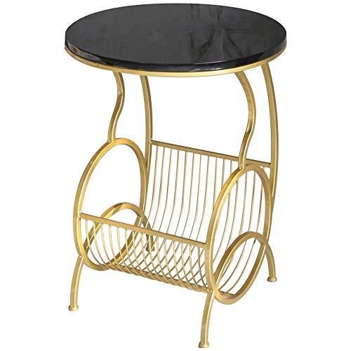 Table Basse Exquise Moderne Simple Chevet, Piano peint table, cadre en métal stable, Lumière Luxe Salon Mini Table ronde nordique Accent Meubles