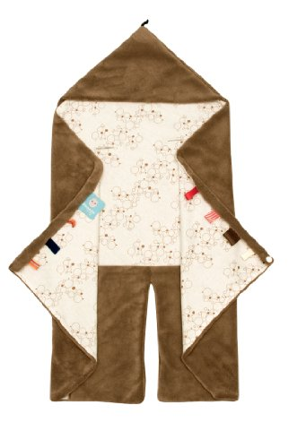 Freekidds, Copertina avvolgente da viaggio, per neonati, 80 x 80 cm, Marrone (Camel)
