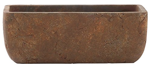 Classic Home and Garden 240001P-433 Dakota Trough, Rust, Large