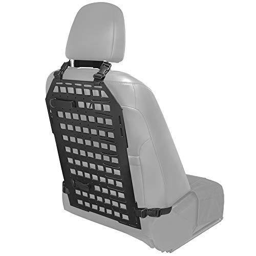 PETAC GEAR Rigid MOLLE Insert Panel 14.2in x 23.4in Vehicle Car Seat Back Organizer Rifle Gun Rack Mount Bracket Display Modular Storage Platform Black