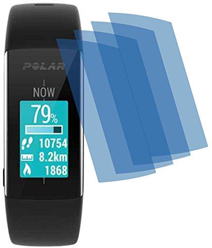 4ProTec I 4X Crystal Clear klar Schutzfolie für Polar Fitness und Activity Tracker A360 A370 Bildschirmschutzfolie Bildschirmschutz Bildschirmfolie Folie BEWUSST Kleiner GEHALTEN WEGEN GEWÖLBTEM Bildschirm
