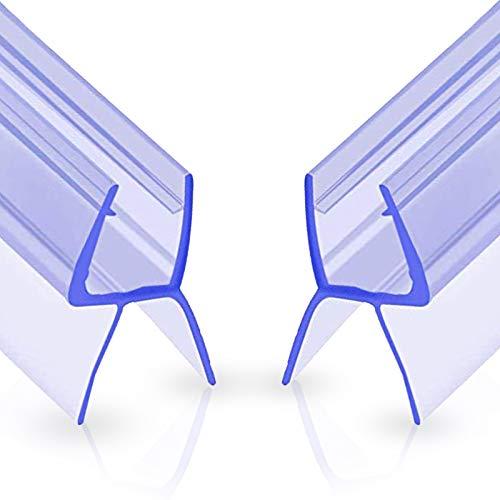 Oladwolf Duschdichtung, 2PCS 100cm Duschtür Dichtung Dusche Glastür für 6mm / 7mm / 8mm Glasdicke, Verdickte PVC Wasserabweiser Gummilippe Duschkabinen Dichtungen Universal