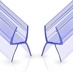 Oladwolf Ducha Pantalla Sello, 2PCS Junta Repuesto Para el Vidrio para 6mm / 7mm / 8mm De Puerta de Cristal Curvado/Recto, 100cm Mampara de Ducha No Se Requiere Pegamento