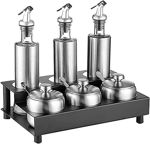 Kruiden Organizer Kruiken Set Countertop Creature Opbergdoos Olie Zout Saus Vinegar Rack Multifunctionele Housewares…