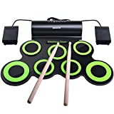 Electronic Drum Set, BONROB Drum Pad Foldable Roll Up Drum Kit Compatible