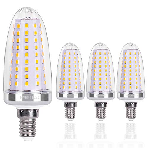SanGlory E14 LED Maiskolben 14W LED Glühbirnen E14 Warmweiss 3000K 1580LM statt 120W Glühlampe Nicht Dimmbar Energiesparlampe E14 LED Mais Birne Kerze Leuchtmittel E14 AC220-240V, 4er Pack