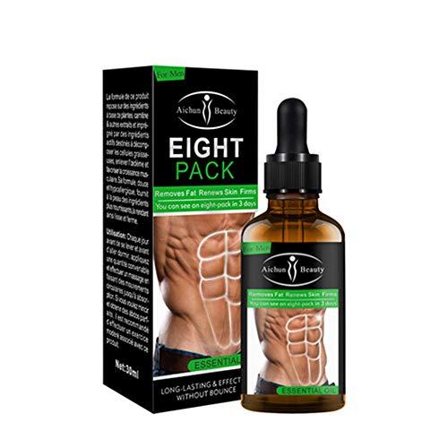 Poderoso Aceite esencial para músculos abdominales 30 ML Hombres Músculo más fuerte Paquete ocho cremas Lucha contra celulitis Pérdida peso hombres Gel reductor