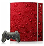 Red Rose Dew Skin for Sony Playstation 3 Console