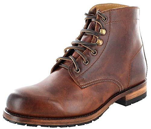 Sendra Boots Unisex Chukka Boots 10604 Evo Tang Schnürstiefel Lederstiefel Urban Boots Braun 45 EU