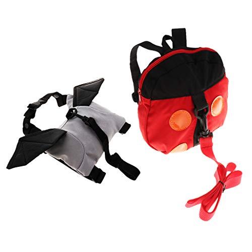 HomeDecTime 2pcs Baby Toddler Kids Animals Safety Harness Strap Bag Backpack W/Reins