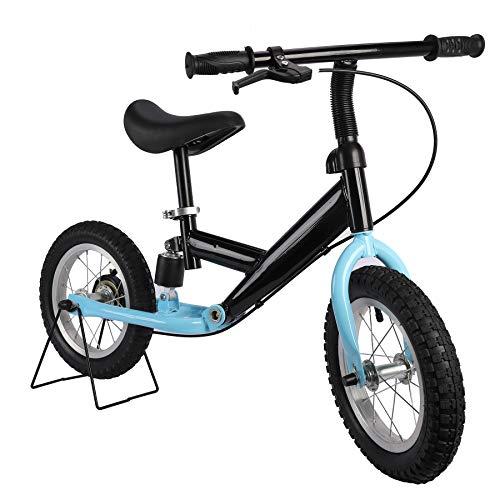 Sfeomi Bicicleta de Equilibrio para Niños 12 Pulgadas Bicicleta de Entrenamiento para Edades de 3 a 6 años con Capacidad de 30 kg Bicicleta de Equilibrio sin Pedal (Azul)