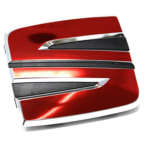 Finest Folia Emblem Set vorne + hinten inklusive Lenkrad Emblem (K108 .Chrom Rot)