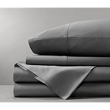 Bamboo Sheets by Bamboo Tranquility - Supreme Quality 4 Piece Bamboo Bed Sheets Set (King, Grey)