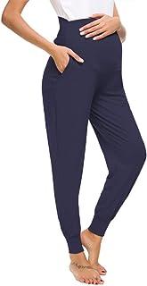 Love2Mi Freizeithose für Schwangere, Umstandsleggings Schwangerschaft Hosen Bequeme Stretch Jogginghose
