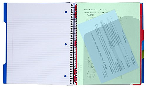 """Five Star Advance Spiral Notebook, 3 Subject, College Ruled Paper, 150 Sheets, 11"""" x 8-1/2"""", Teal (73140) Photo #3"""