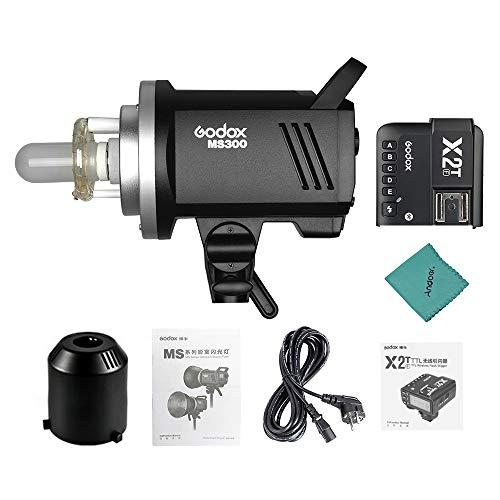 Godox MS300 Studio Flash Luz estroboscópica Monolight 300Ws Máx. Incorporado en el Poder Godox 2.4G Sistema inalámbrico X GN58 5600K Bowens Monte + Godox X2T F-TTL Disparo de Flash inalámbrico