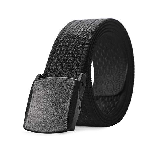 JASGOOD Nylon Outdoors Hiking Unisex Belt Tactical Gun Belt Police Duty Belt with 2 Plastic Nickel Free Buckle,1-2 Black 2-pant Size Below 43'