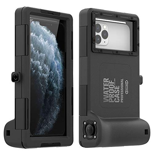 Universal Phone Waterproof Case for Most of Samsung Galaxy and iPhone Series, [50ft/15m] Underwater Photography Waterproof Housing, Diving Case for iPhone and Galaxy Series Etc. (All Black)