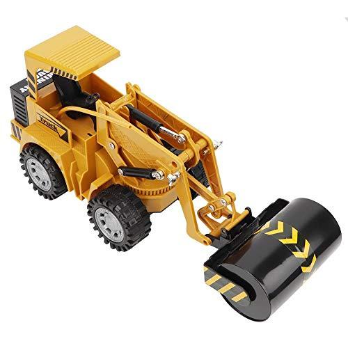 JULYKAI Vehículo de ingeniería, Rodillo de Carretera Vehículo de ingeniería Camión de construcción de Juguete 1:36 Control Remoto Camiones de 5 Canales Vehículo para Todos los Adultos y niños