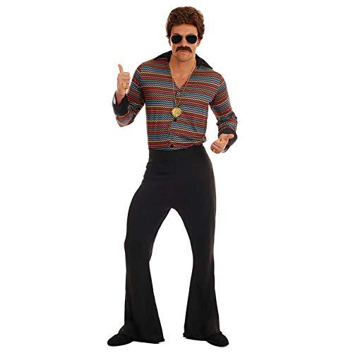 Fun Shack Schwarzes Disko Kostüm 70er Jahre Verkleidung für Herren - XL