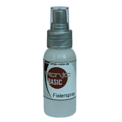 FixierSpray Senjo Color Pumpflasche 50ml zur unsichtbaren Fixierung von Facepainting Bodypainting Kinderschminke Professional Make-Up Fixing Spray