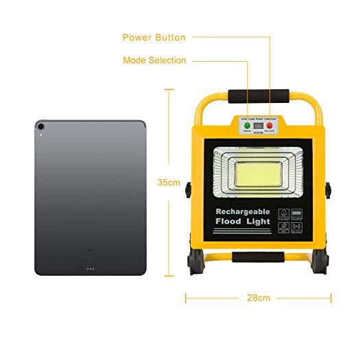Projecteur Rechargeable LED 60W Portable Projecteur Chantier Lampe Chantier 6000K IP65