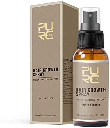 PURC Anti Hair Loss Hair Growth Spray Essence 20ml Beard Grow Stimulator Natural Accelerate Hair Growth Oil Facial Hair Grower