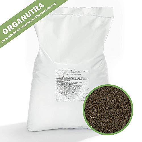 Organutra Rasendünger Premium Naturdünger | 7 kg staubarmes Bio- Granulat für einen strapazierfähigen Rasen | Langzeitwirkung und natürliche dauerhafte Bodenverbesserung | hemmt Mosswachstum