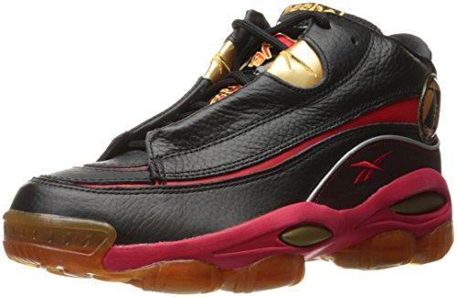 Reebok La respuesta de los hombres DMX 10 Zapatillas de moda, Negro / Rojo / Dorado, 8.5 M de EE. UU.