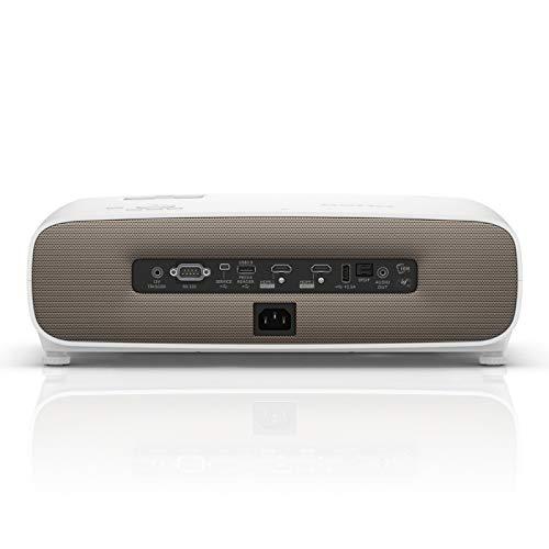 BenQ W2700 Proyector de cine en casa de auténtico 4K con HDR-Pro, 95 % de DCI-P3 y 100 % de Rec. 709, 2000 lúmenes, HDMI