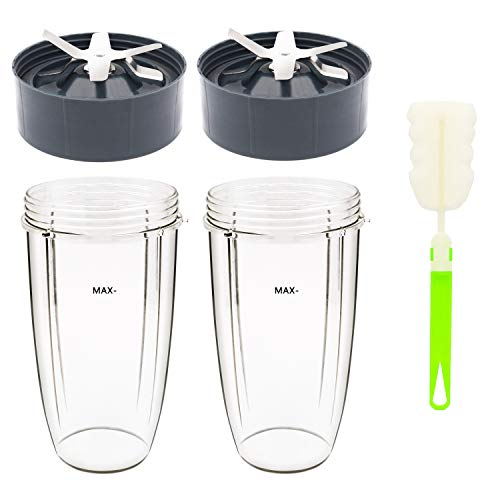 Tanzfrosch 32oz Cup and Extractor Blade Replacement Parts Blender Accessories Compatible with Nutribullet 600W/900W Models (4 Packs)
