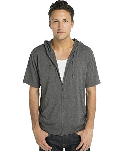 Short Sleeve Zip Up Hoodie Mens