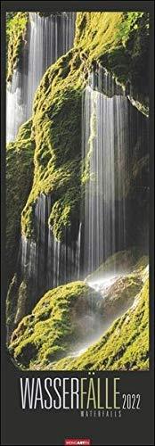 Wasserfälle Kalender 2022 - XXL-Vertikal-Wandkalender mit internationalem Monatskalendarium - 12 Farbfotos - 34 x 98 cm