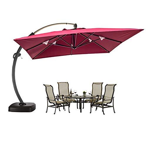 CHHD Parasol, sombrilla Exterior Sunshine Big Banana Courtyard Umbrella con Base de inyección de Agua 3.5 Metros Garden Beach Sun Umbrella Terrace Guard Box Umbrella, Blanco