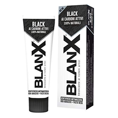 Blanx Black mit Aktivkohlen Zahnpasta 75ml Zahnschmelzschonende Zahncreme