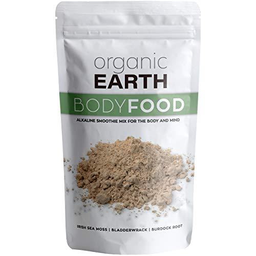 Organic Earth Irish Sea Moss Powder (8 Ounces) Super Cell Body Food - Wildcrafted Irish Sea Moss Plus Bladderwrack and Burdock Root Powder - Natural Irish Moss Seaweed