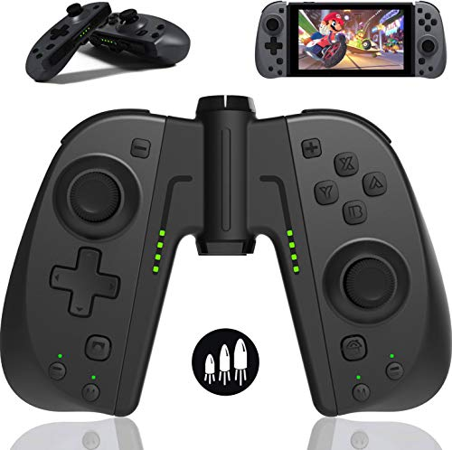 Elyco Controller für Nintendo Switch Joycon, Bluetooth Kabelloser Wireless Gamepad Burbo-Funktion Joypad Joystick Controller Kompatibel mit Nintendo Switch