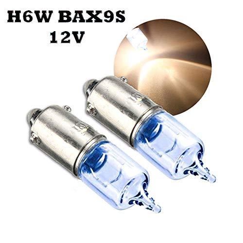 Jurmann Trade GmbH® 2 x Blue Vision Halogen Lampen H6W BAX9S 12V Ersatz Super White Standlicht