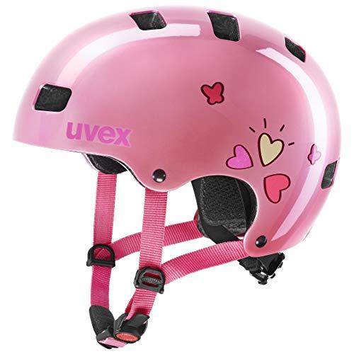 uvex Kid 3 Casco de Bicicleta, Unisex-Youth, Pink Heart, 55-58 cm