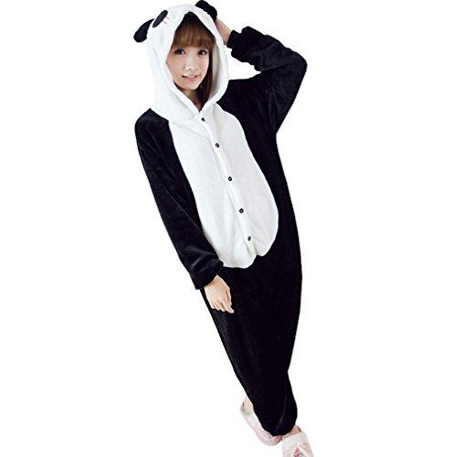 Ferrand Kigurumi Pyjamas Unisexe Adulte Costume Cosplay Animaux Onesie Panda Noir S