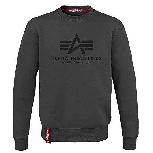 Alpha Industries Basic Sweater Grey Black