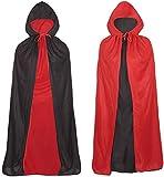 Ecloud Shop Niño de Halloween Vestir para Adultos Magos Capa mágica Vampiro Manto 100cm
