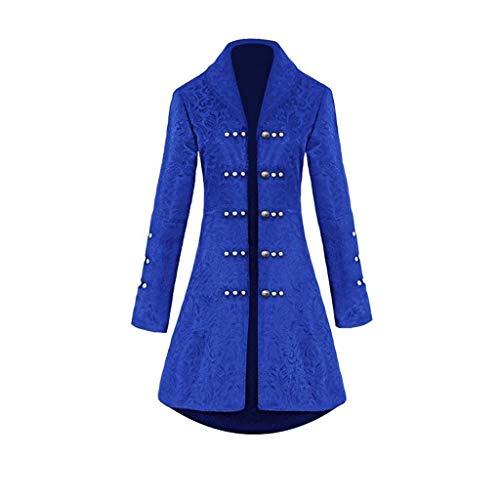 iYmitz Damen Herren Mantel Frack Jacke Gothic Gehrock Uniform Kostüm Praty Outwear
