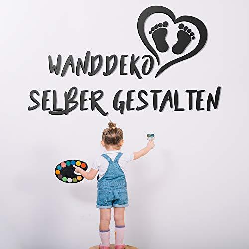Kinderzimmer 3D Wanddeko aus Holz selber gestalten - verschiedene Schriftarten & Motive - Deko von 30 cm bis 200 cm - Persönlicher Schriftzug - Name & Text für Babyzimmer
