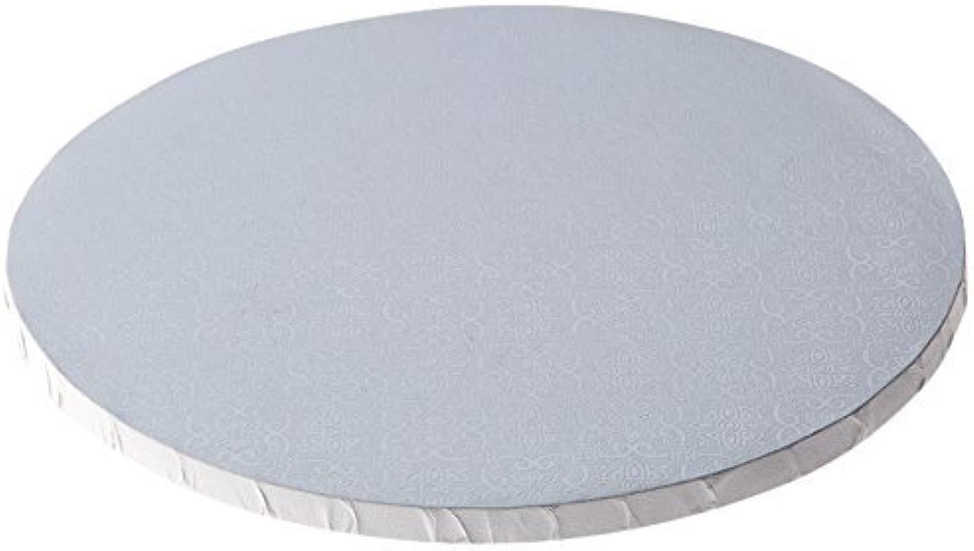 6 White Round Drum 1 2