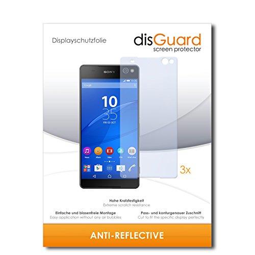 disGuard® Bildschirmschutzfolie [Anti-Reflex] kompatibel mit Sony Xperia C5 Ultra Dual [3 Stück] Entspiegelnd, Matt, Antireflektierend, Extrem Kratzfest, Anti-Fingerabdruck - Panzerglas Folie, Schutzfolie