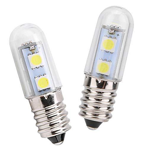 Ruining Bombilla de luz LED de maíz de 1.8 * 0.6 Pulgadas, Bombilla de luz, para máquina de Coser, luz de refrigerador LED,(White Light, 220V)