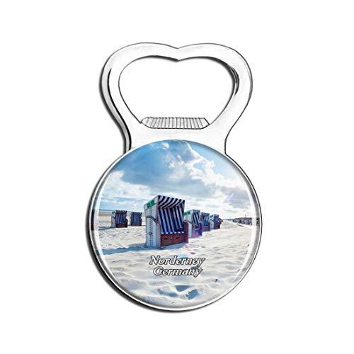 Weekino Norderney Beach Deutschland Bier Flaschenöffner Kühlschrank Magnet Metall Souvenir Reise Gift