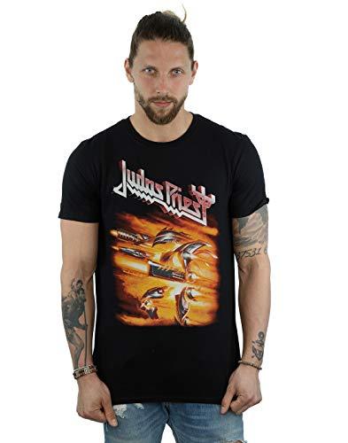 Judas Priest Herren Firepower Cover T-Shirt Schwarz Large